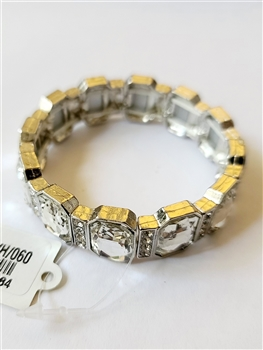 Large Crystal Square Stretch Bracelet B1334