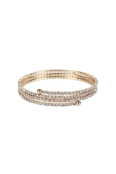 Crystal Accent Warp Around Bracelet B1375