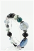 Mixed Semi Precious Stone Beaded Bracelet  B1491