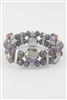 Double Layered Crystal Bracelet B1492