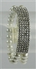 Crystal Double Layered Pearl Bracelet B1506