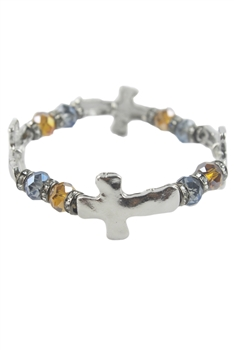 Crystal Cross Cutout Bracelet B1507
