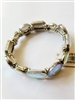 Large Crystal Metal Stretch Bracelet B1519