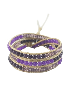 Seed Bead Beaded Wrap Round Bracelet B1547