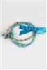 Turquoise and Crystal Bracelets B1577