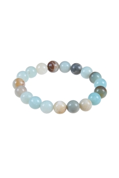 Amazonite Stone Bracelet B1587-GLOSS - 10MM