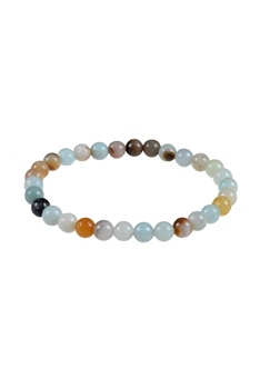 Amazonite Stone Bracelet B1587-GLOSS - 6MM