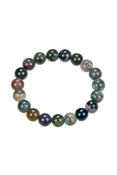 Indian Agate Stone Bracelets B1590 - 10MM
