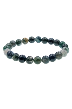 Indian Agate Stone Bracelets B1590 - 8MM