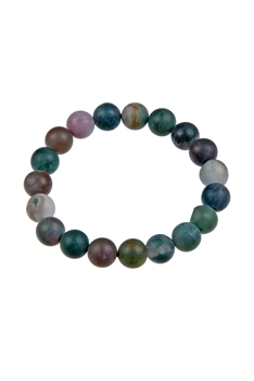 Matt Finished Indian Agate Stone Bracelets B1590 - 10MM