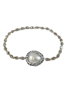 Pearl and Crystal Bracelet B1632