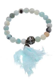 Amazonite Stone Stretch Bracelets B1831