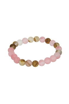 Pink Stone Stretch Bracelet B1872-8MM