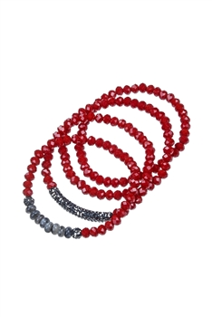 Crystal Natural Stone Bracelets B1914
