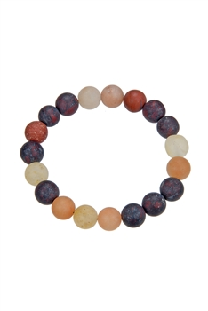 Muddy Stone Natural Stone Bracelet B1967 - 10MM