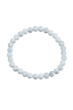 Howlite Stone Stretch Bracelet B1971 - 6MM