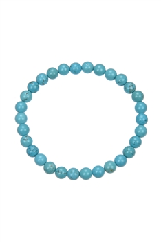 Crack Turquoise Stone Stretch Bracelet B1976 - 6MM