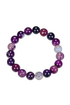 Dog Teeth Amethyst Bracelet - 10 MM
