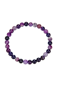 Dog Teeth Amethyst Bracelet - 6 MM