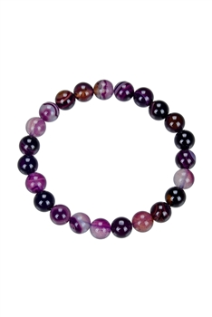 Dog Teeth Amethyst Bracelet B1978 - 8 MM