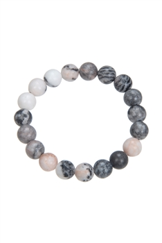 Rhodonite Stone Bead Bracelet B1979 - 10MM