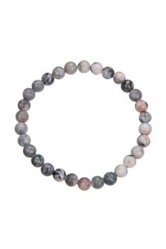 Rhodonite Stone Bead Bracelet B1979 - 6MM