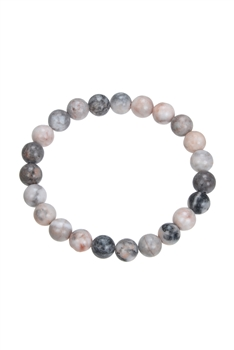 Rhodonite Stone Bead Bracelet B1979 - 8MM