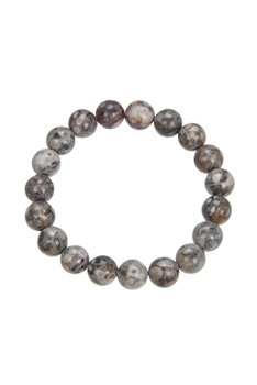 Rice-Wheat Stone Bead Bracelet B1984 - 10MM
