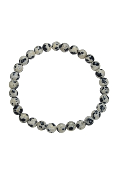 Dalmentiomer Stone Stretch Statement Bracelet B1990 - 6MM