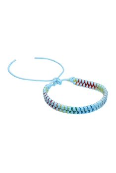 Braided Rope Bracelets B1999 - Light-blue