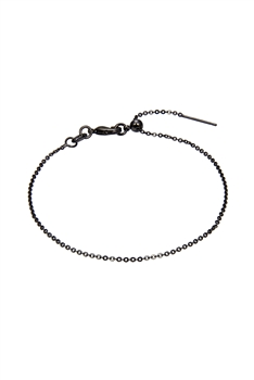 Simple Stretch Chain Bracelet B2008 - Gun Metal