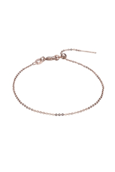 Simple Stretch Chain Bracelet B2008 - Rose Gold