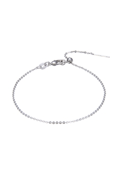 Simple Stretch Chain Bracelet B2008 - Silver