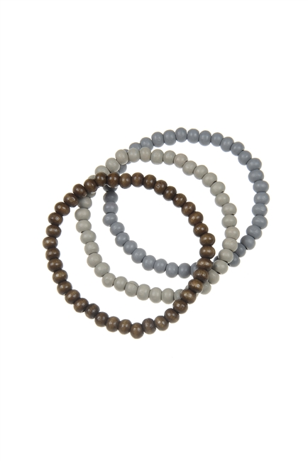 Simple Wooden Beads Bracelet Set B2022