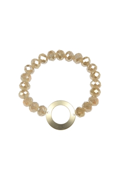 Crystal Splicing Metal Bracelets B2026 - Champagne