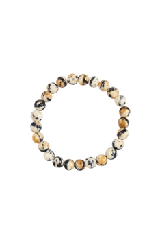 Composition Stone Stretch Bracelet B2039 - Beige