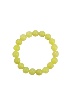 Lemon Jade Stone Bead Bracelet B2048 - 10MM