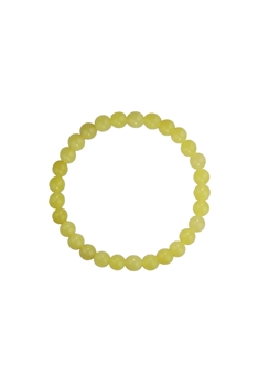 Lemon Jade Stone Statement Stretch Bracelet B2048 - 6MM