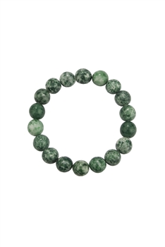 Greenspot Jasper Stone Stretch Bracelet B2051 - 10MM
