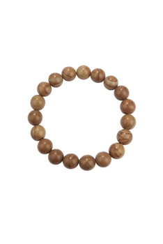 Woodenline Jasper Stone Stretch Bracelet B2052 - 10MM