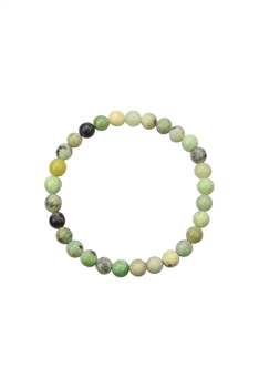 Chrysoprase Stone Statement Stretch Bracelet B2056 - 6MM