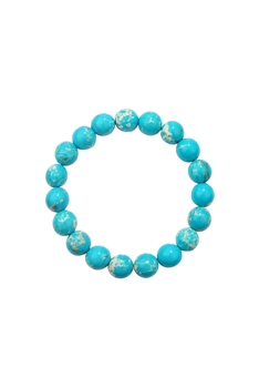 Blue Emperor Stone  Stretch Bracelet B2057 - 10MM