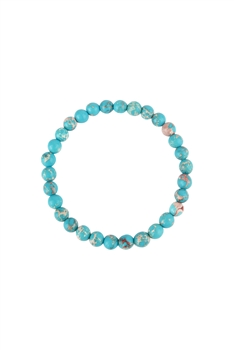 Blue Emperor Stone Statement Stretch Bracelet B2057 - 6MM