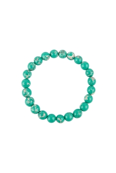 Green Emperor Stone Statement Stretch Bracelet B2057 - 8MM