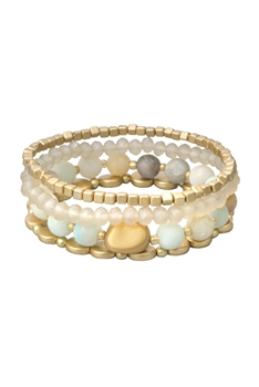 Natural Stone Bracelets Set B2060 - Amazonite