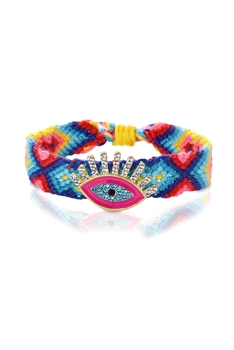 Evil's Eye Braided Bracelet B2110 - Multi