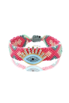 Evil's Eye Braided Bracelet B2110 - Pink