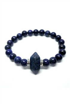 Natural Stone Stretch Bracelets B2147 - Lapis