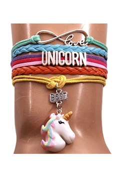 Unicorn Braided Bracelets B2187