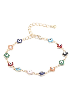 Against Evil Eyes Beads Chains Bracelets B2196